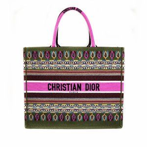Dior Embroidered Book Tote Bag
